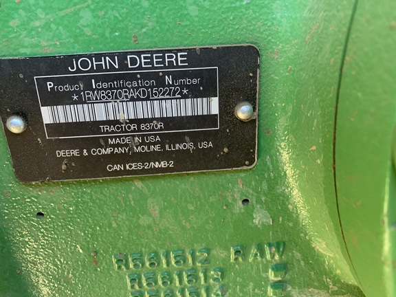 2020 John Deere 8370R
