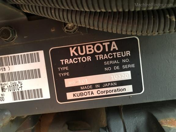 2017 Kubota M6-101
