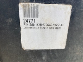 2017 John Deere 770