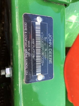 2020 John Deere 635F
