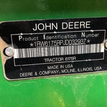 2018 John Deere 6175R