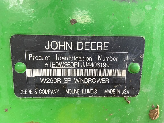 2018 John Deere W260