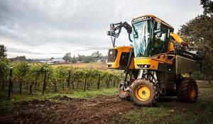 Pellenc grape harvester