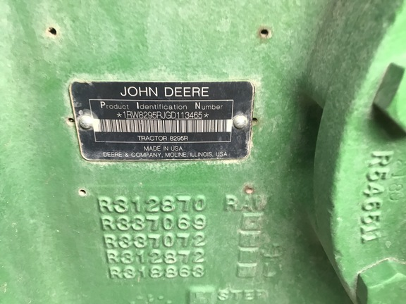 2016 John Deere 8295R