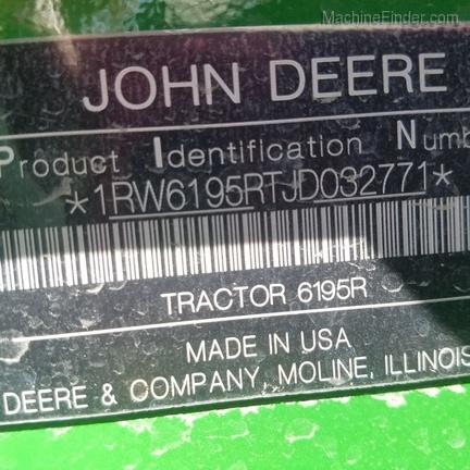 2018 John Deere 6195R