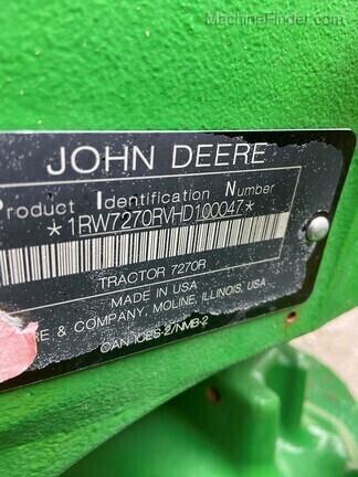 2018 John Deere 7270R
