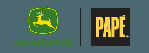 John Deere and Pape Logo Image