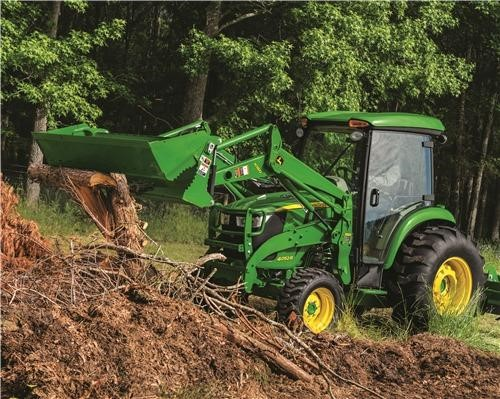 Land clearing with a compact tractor