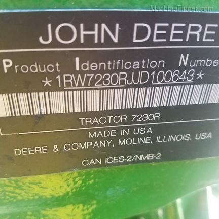 2018 John Deere 7230R