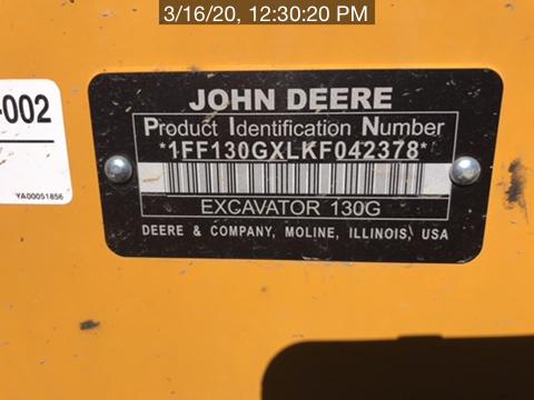 2019 John Deere 130GLC