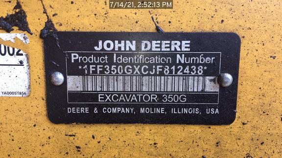 2018 John Deere 350G
