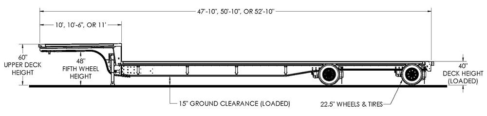 Trail King ACS Steel-Aluminum Combo Step Deck