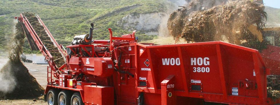 Morbark 3800 Wood Hog Horizontal Grinder
