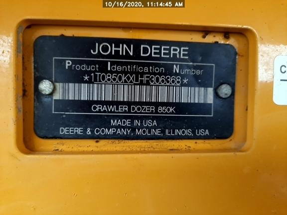 2017 John Deere 850WLT