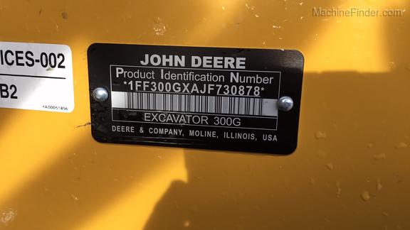 2018 John Deere 300GLC