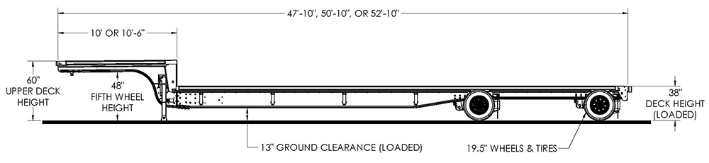 Trail King AACS All-Aluminum Center Frame Step Deck