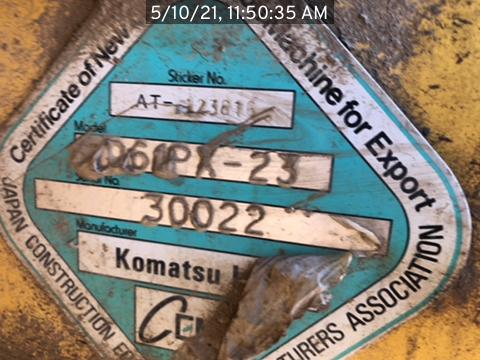 2013 Komatsu D61PC-
