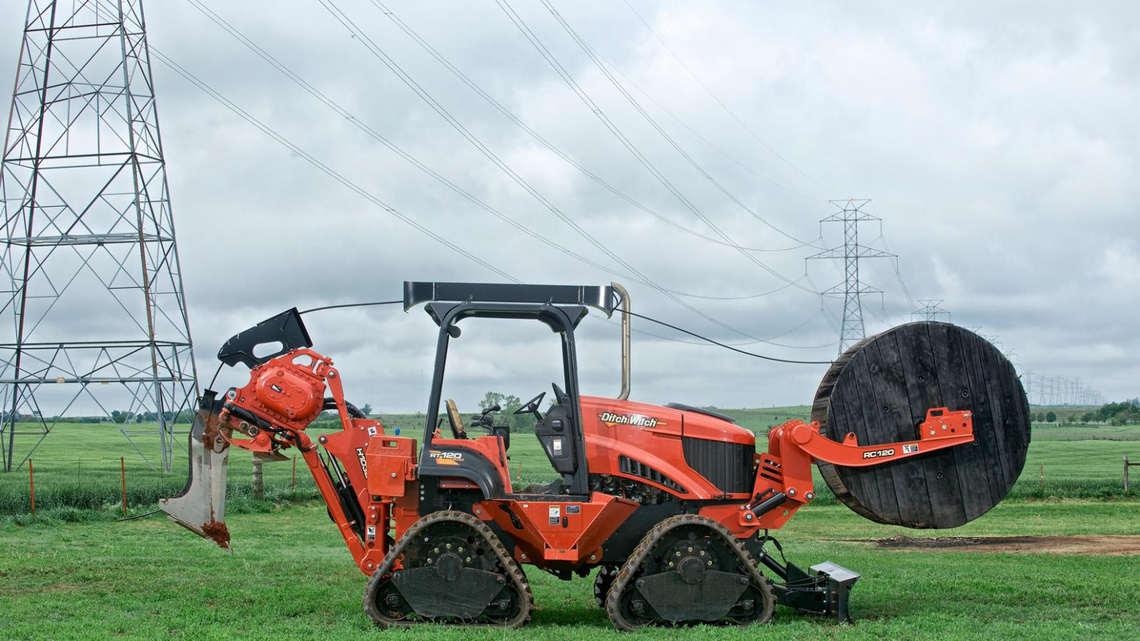 Ditch Witch RT120 Quad Ride-On Trencher