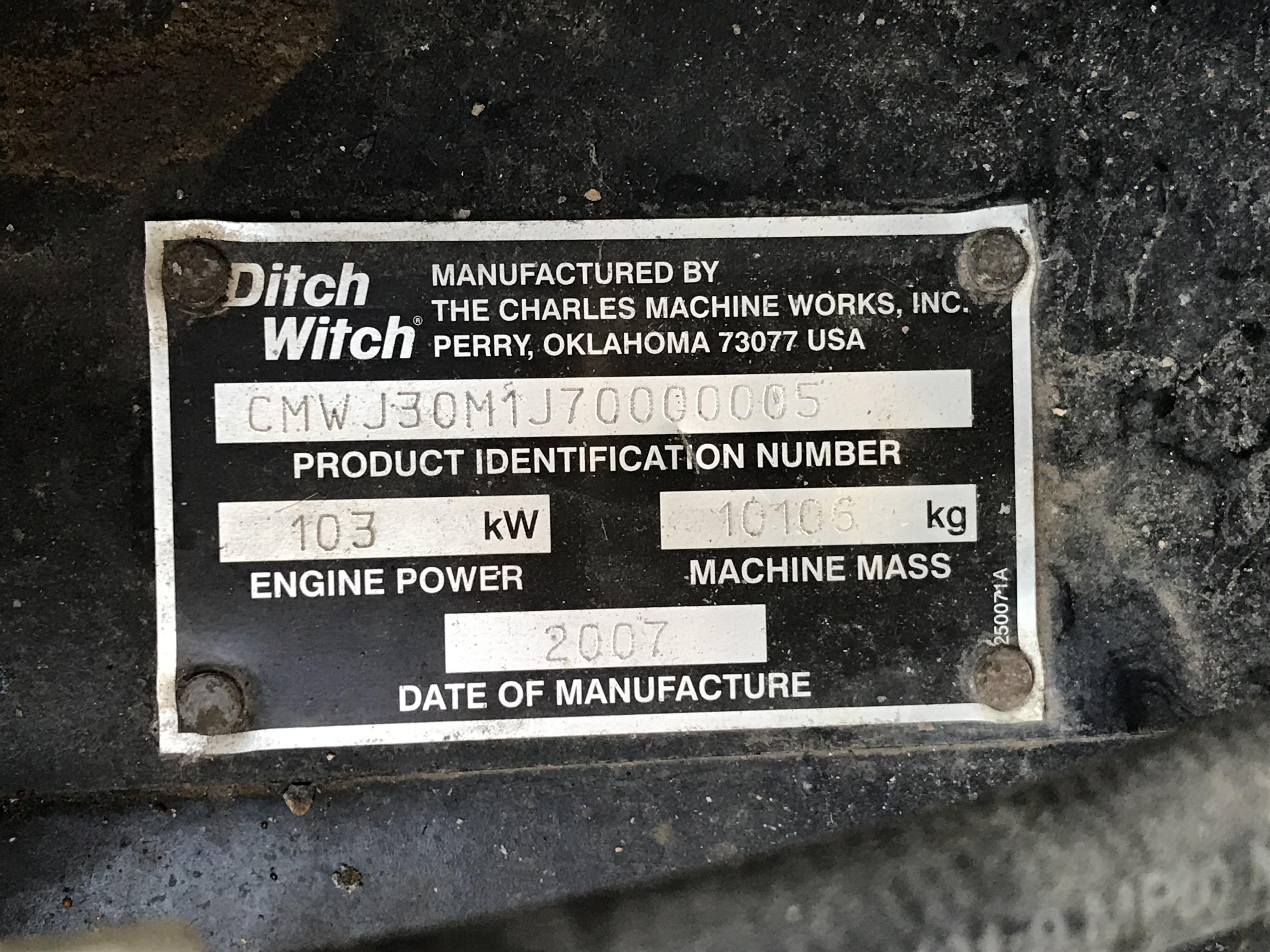 2007 Ditch Witch JT3020