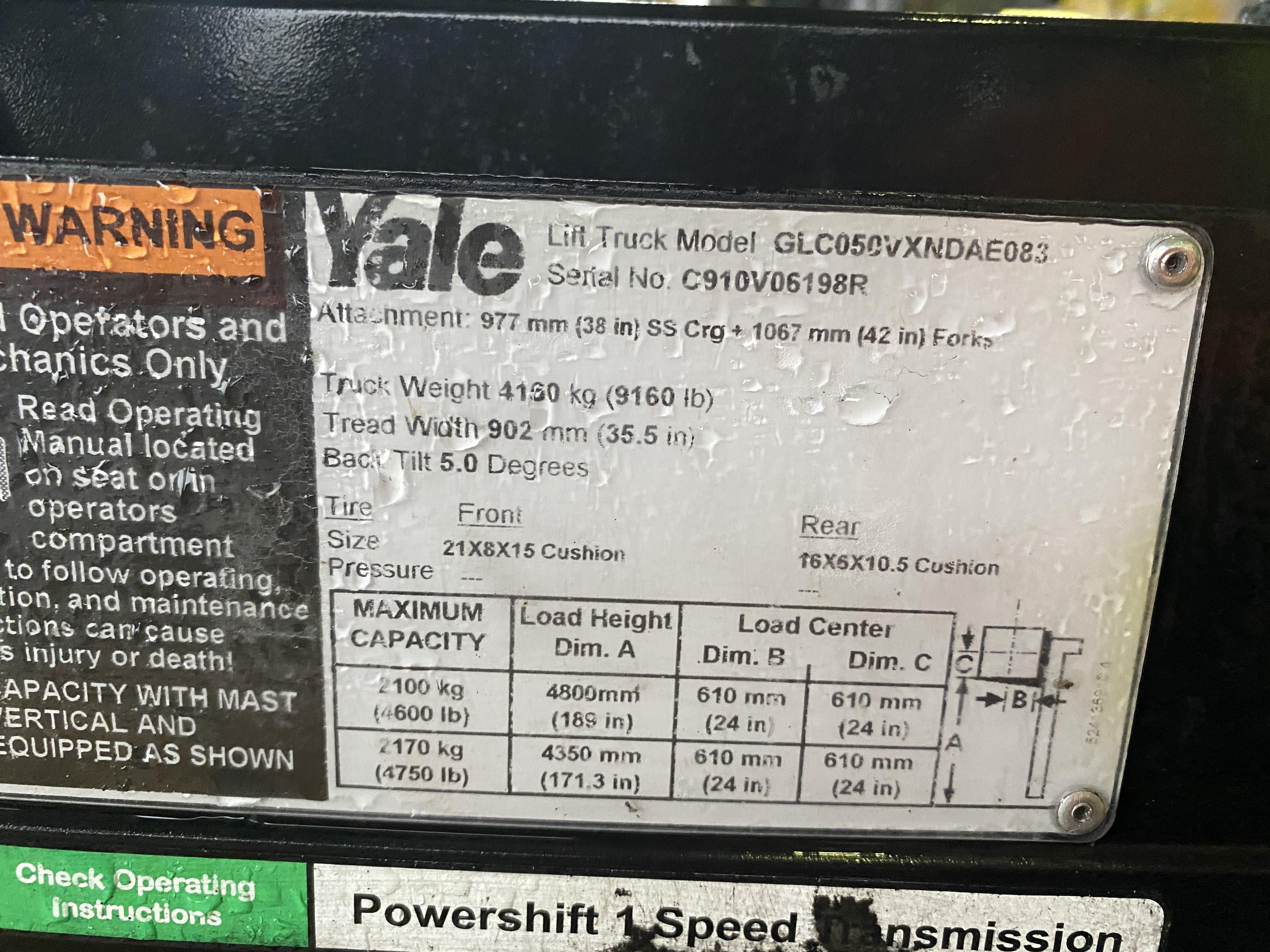 2017 Yale GC050V