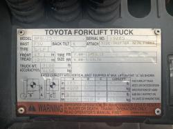 2008 Toyota 8FGU25