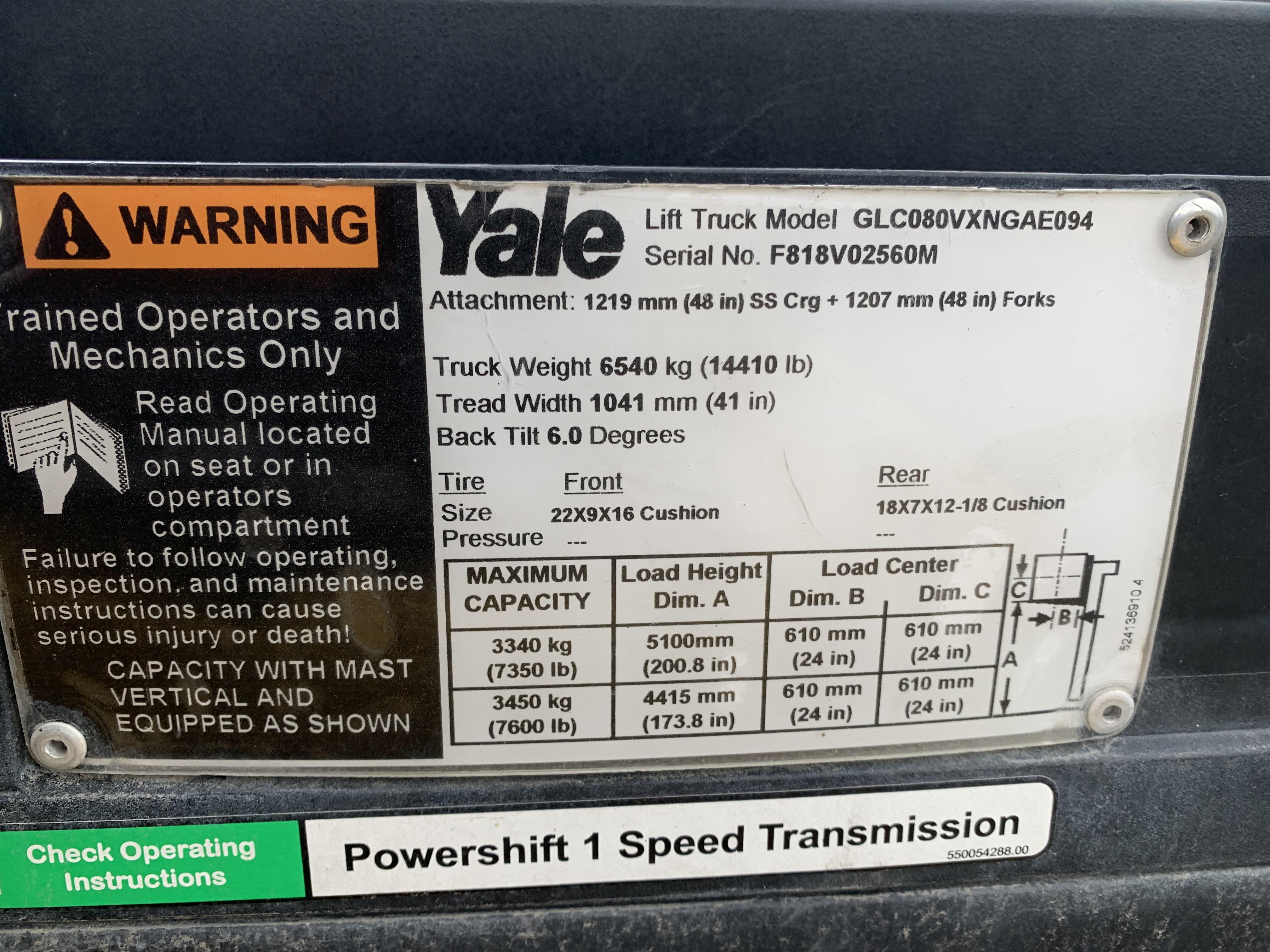 2014 Yale GLC080