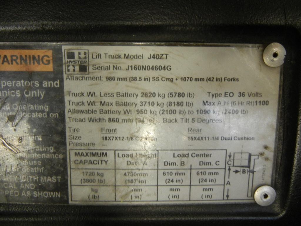 2009 Hyster J40ZT